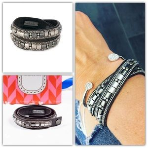 Stella and Dot Cady Wrap Bracelet Silver